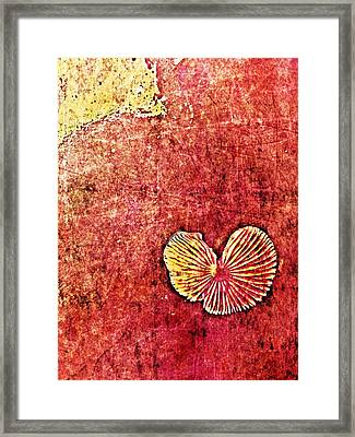 Framed Print featuring the digital art Nature Abstract 4 by Maria Huntley