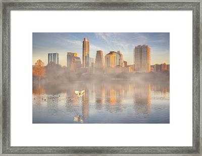 Nature And The Austin Skyline From The Boardwalk Framed Print