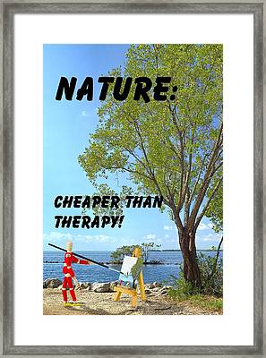 Nature Art Quote Framed Print