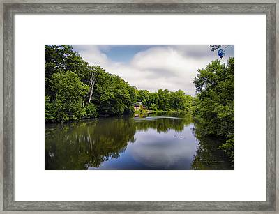 Nature Center On Salt Creek Framed Print by Thomas Woolworth