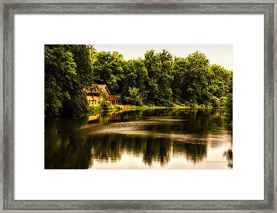 Nature Center Salt Creek In August Framed Print by Thomas Woolworth