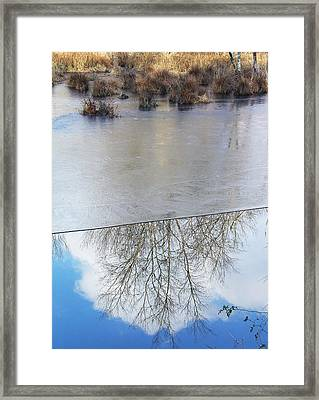 Nature Draws Its Line With Its Ice Framed Print by Terrance DePietro