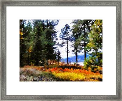 Framed Print featuring the painting Nature Escape 1 by Wayne Pascall