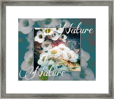 Framed Print featuring the painting Nature Floral Bouquet by John Fish