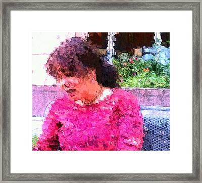 Nature Lady Sad Framed Print