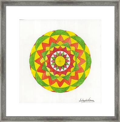 Nature Mandala Framed Print by Silvia Justo Fernandez