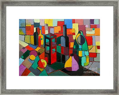 Nature Morte Cubiste Framed Print by Mona Edulesco