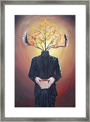 Nature Of Ego And Self Framed Print by Vincent Fink
