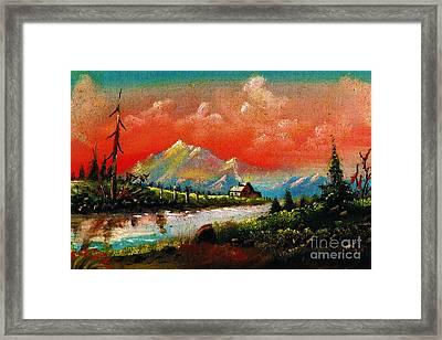 Nature Of God Framed Print by Donna Chaasadah