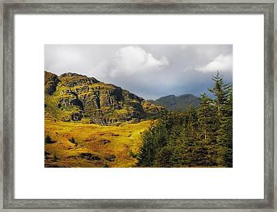 Nature Of Rest And Be Thankful. Scotland Framed Print