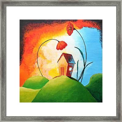 Nature Spills Colour On My House Framed Print by Nirdesha Munasinghe