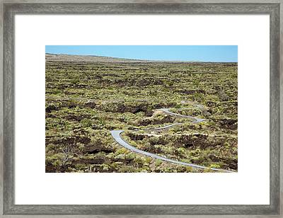 Nature Trail And Lava Flow Framed Print by Jim West