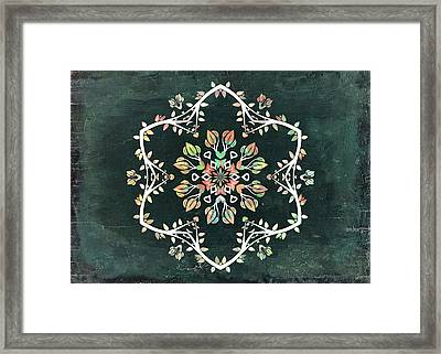 Nature Vibe Mandala - S02t02c Framed Print by Variance Collections