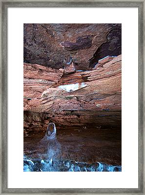 Natures Artistry - Apostle Island Sea Caves - February 2014  Framed Print by Carol Toepke