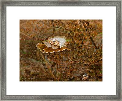 Framed Print featuring the digital art Nature's Artistry At Work by J Larry Walker