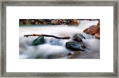 Natures Balance - White Water Rapids Framed Print