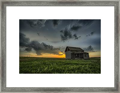Nature's Beautiful Fury Framed Print by Thomas Zimmerman