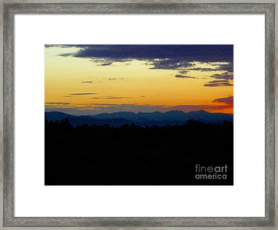 Framed Print featuring the photograph Natures Brow by Diane Miller