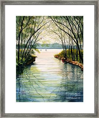 Nature's Cathedral Framed Print by Marilyn Smith