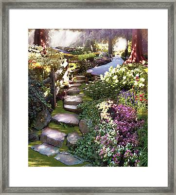 Natures Chosen Path Framed Print by David M ( Maclean )