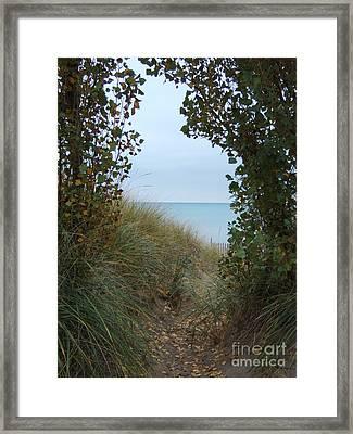 Nature's Door Framed Print by Margaret McDermott