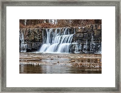 Natures Falls Framed Print