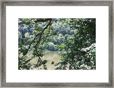 Nature's Frame Of The Delaware Water Gap Framed Print by John Telfer