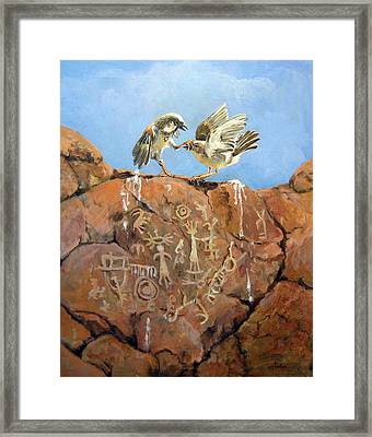 Nature's Fury Framed Print by Donna Tucker