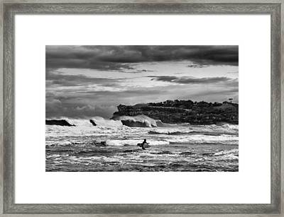 Nature's Fury Surfers' Paradise Framed Print