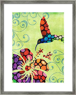 Nature's Harmony 2 - Hummingbird Art By Sharon Cummings Framed Print by Sharon Cummings