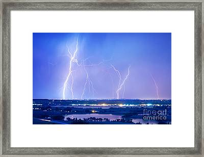 Natures Light Show Over The Boulder Reservoir  Framed Print