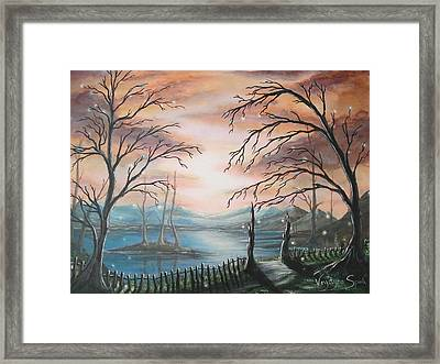 Natures Lights Framed Print