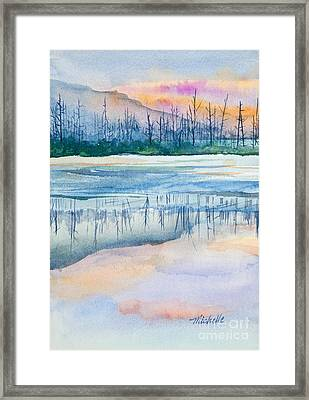 Nature's Mirror Framed Print by Michelle Wiarda