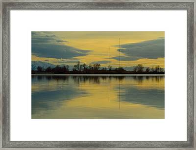 Natures Mirror Framed Print by Robert Reese