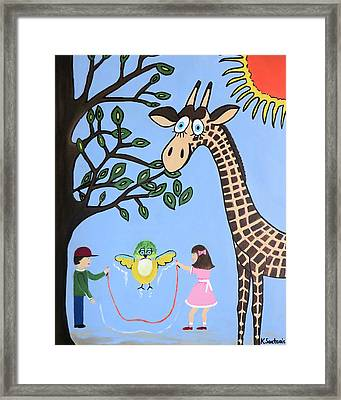 Framed Print featuring the painting Nature's Playground by Kathleen Sartoris