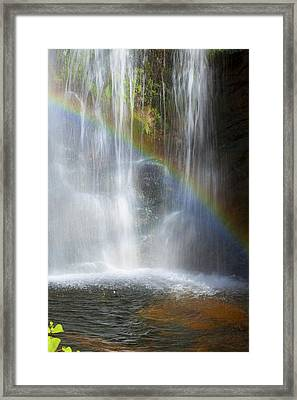 Framed Print featuring the photograph Natures Rainbow Falls by Jerry Cowart