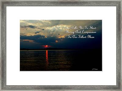 Natures Sunset Framed Print