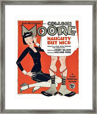 Naughty But Nice, Colleen Moore Framed Print by Everett
