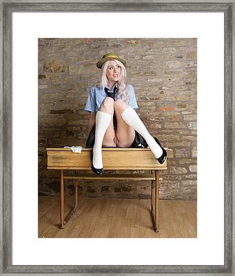 Very Naughty Girl Framed Print by Asa Jones