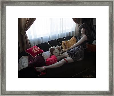Naughty Girl Framed Print