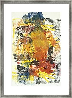 Naughty Lady Series I Framed Print by Charles B Mitchell