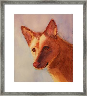 Naughty Or Nice? Framed Print by Lori Chase