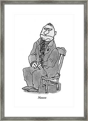 Nausea Framed Print by William Steig