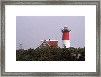 Nauset Beach Lighthouse Framed Print by Bruce Roberts