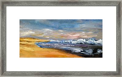 Nauset Beach Surf Framed Print