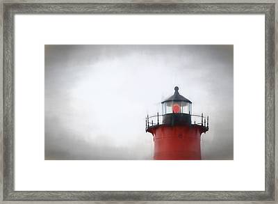 Nauset Lantern And Catwalk Framed Print
