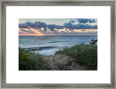Nauset Light Beach Sunrise Framed Print by Bill Wakeley