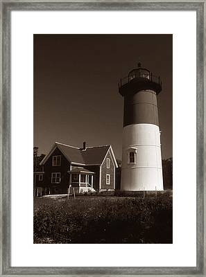 Nauset Lighthouse Framed Print by Skip Willits