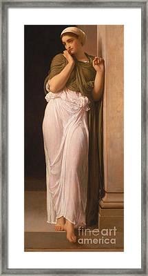 Nausicaa Framed Print by Frederic Leighton