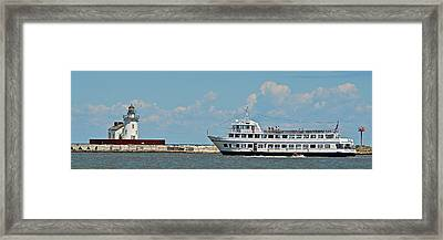 Nautica Queen In Lake Erie Harbor Framed Print
